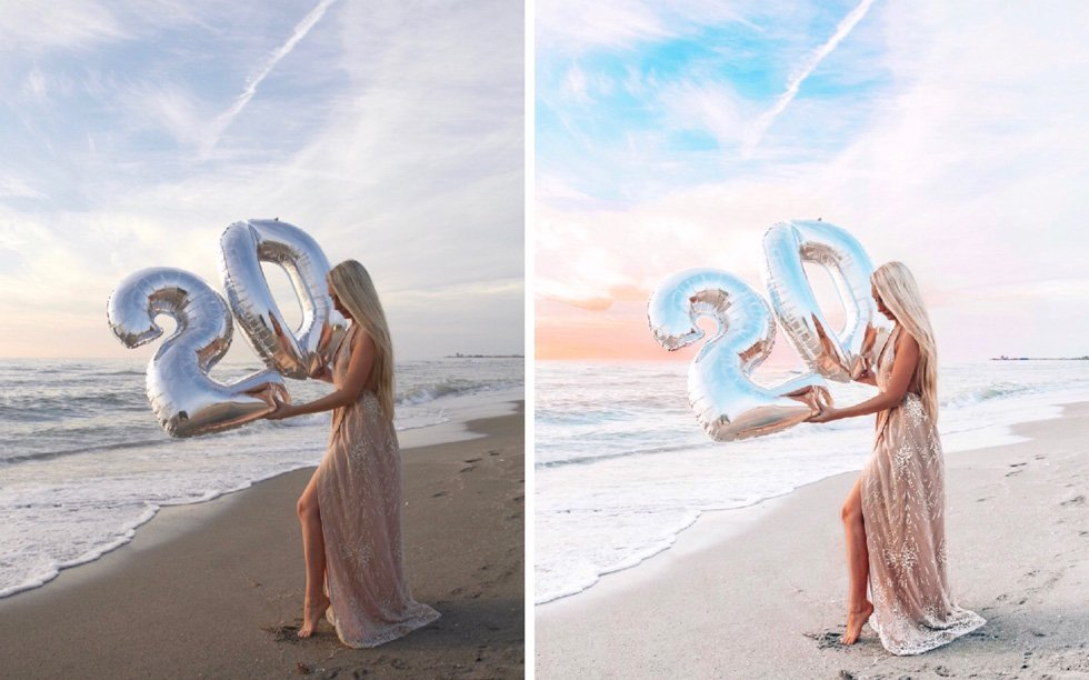 before and after breaking waves preset