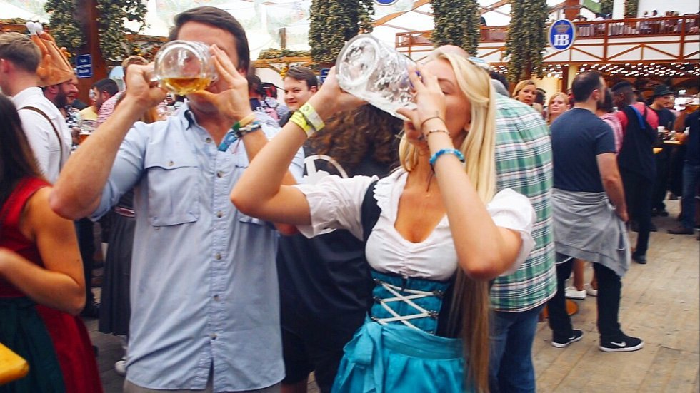 think gypsy chugging oktoberfest