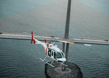 helicopter at skyway