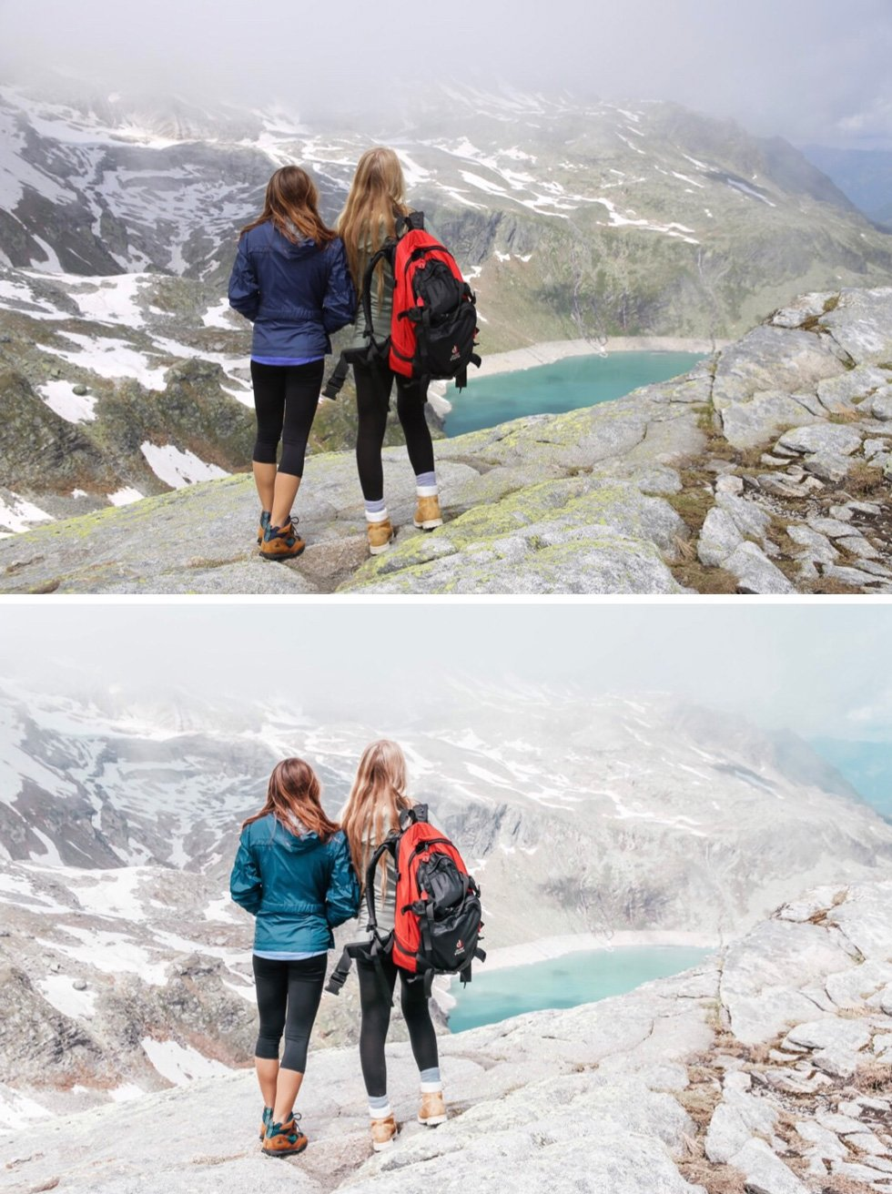 before and after glacier