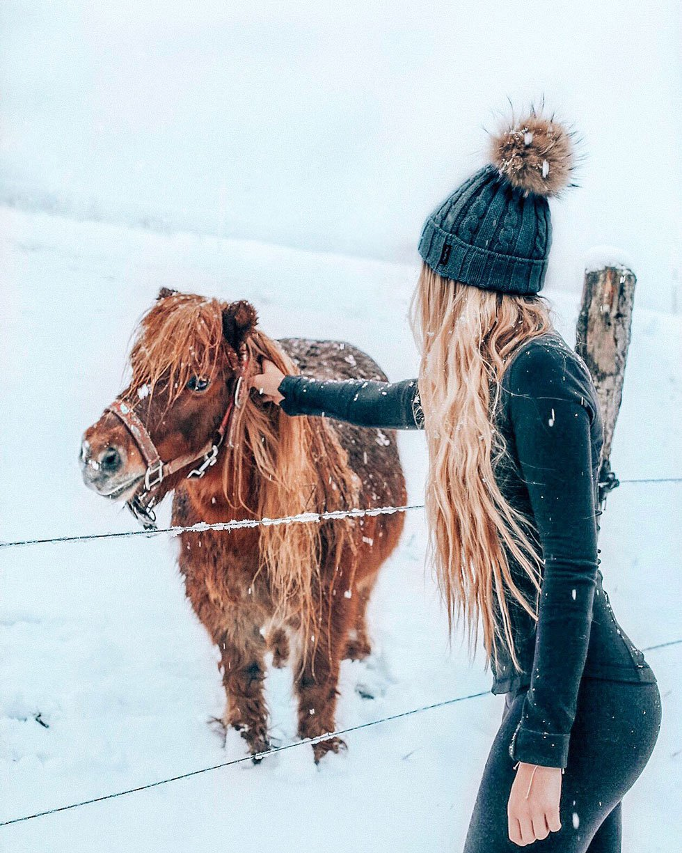 think gypsy with snow and horse